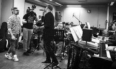 Давид Тодуа и Дэйв Дарио репетируют номер для этапа поединков Голос 6. Студия Фонограф.