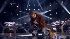 Вячеслав Задорожный исполнил хит Ленни Кравица Fly Away на этапе Нокаутов Голос 6