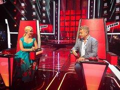 Пелагея и Леонид Агутин на съёмках проекта Голос 60+