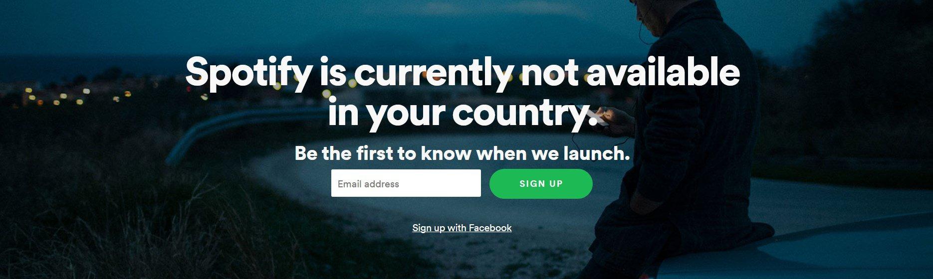 Регистрация на Spotify для пользователей из России
